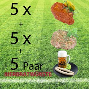Grillpaket - Fußball: mit saftigen Kammsteaks vom Schwein und Bierbratwürste aus der Weltrekordgemeinde